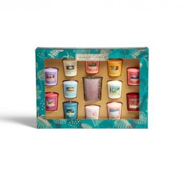 The Last Paradise Zestaw 12 świec sampler + świecznik Yankee Candle