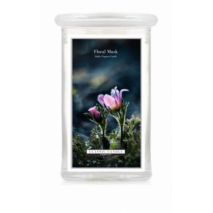 Duża świeca Floral Musk Classic Candle