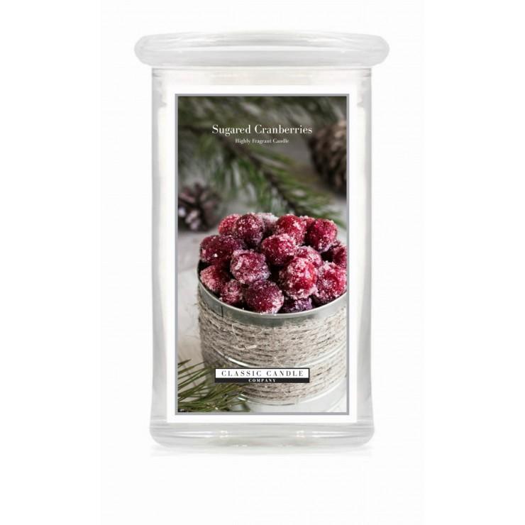 Duża świeca Sugared Cranberries Classic Candle