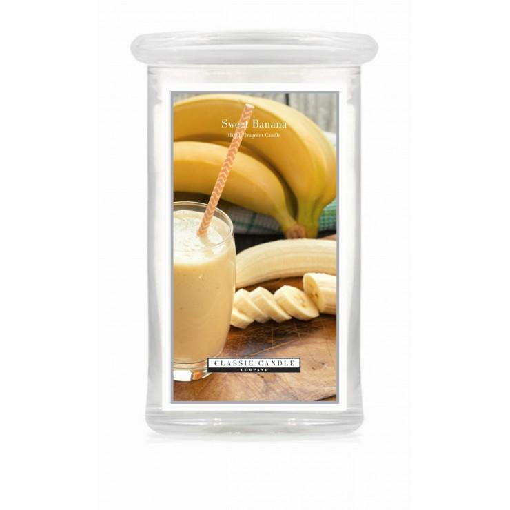 Duża świeca Sweet Banana Classic Candle