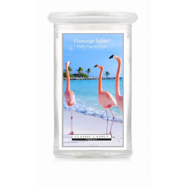 Duża świeca Flamingo Island Classic Candle