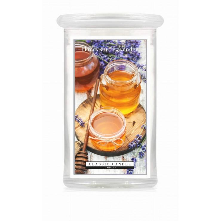 Duża świeca Honey & Lavender Classic Candle