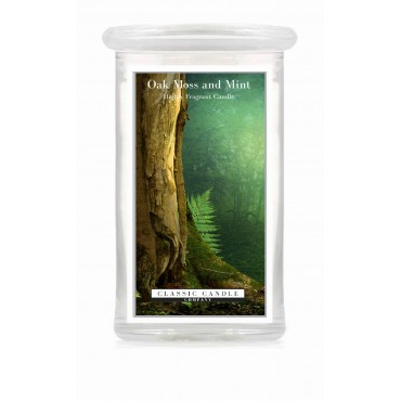 Duża świeca Oak Moss and Mint Classic Candle