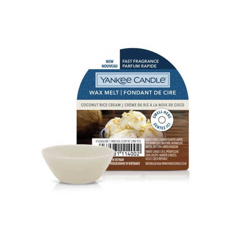 Wosk Coconut Rice Cream Yankee Candle
