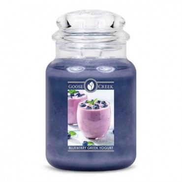 Duża świeca Blueberry Greek Yoghurt Goose Creek Candle