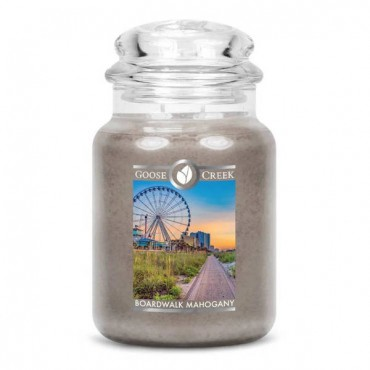 Duża świeca Boardwalk Mahogany Goose Creek Candle