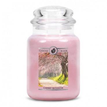 Duża świeca Cherry Blossom Goose Creek Candle