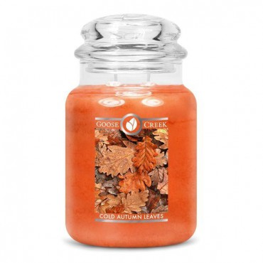 Duża świeca Cold Autumn Leaves Goose Creek Candle