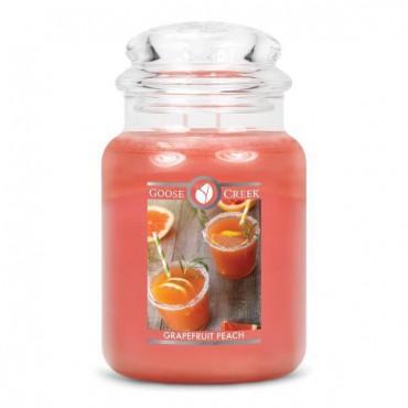 Duża świeca Grapefruit Peach Goose Creek Candle