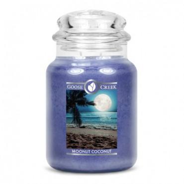 Duża świeca Moonlit Coconut Goose Creek Candle