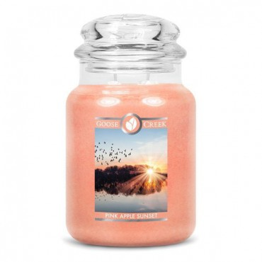 Duża świeca Pink Apple Sunset Goose Creek Candle