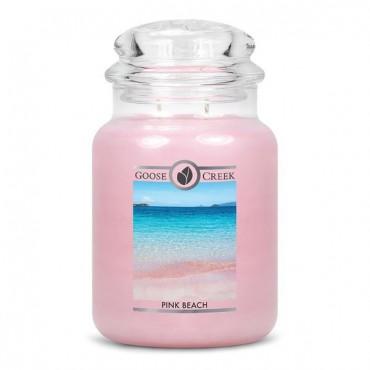 Duża świeca Pink Beach Goose Creek Candle