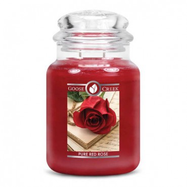 Duża świeca Pure Red Rose Goose Creek Candle