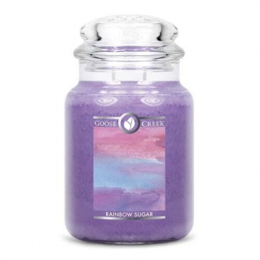 Duża świeca Rainbow Sugar Goose Creek Candle