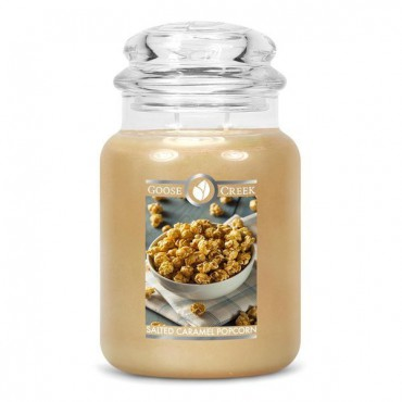 Duża świeca Salted Caramel Popcorn Goose Creek Candle