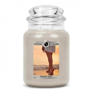 Duża świeca Sandy Toes Goose Creek Candle