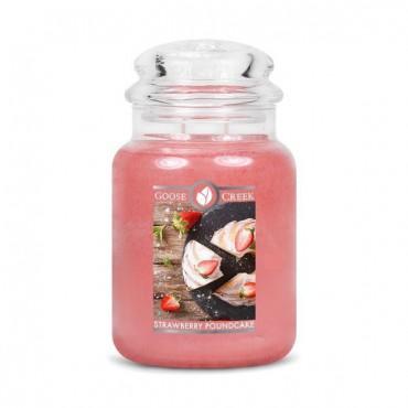 Duża świeca Strawberry Poundcake Goose Creek Candle