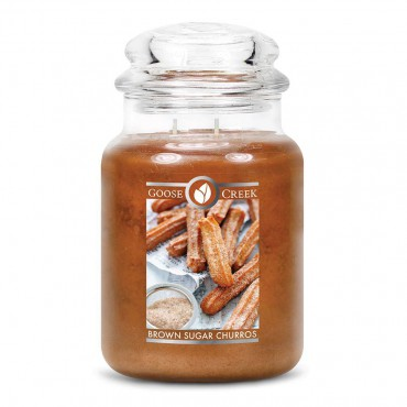 Duża świeca Brown Sugar Churros Goose Creek Candle