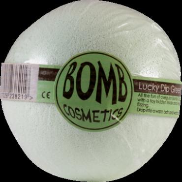 Musująca kula do kąpieli z niespodzianką SZCZĘŚLIWY TRAF miętowa – Bomb Cosmetics