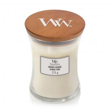 Średnia świeca Smoked Jasmine Woodwick