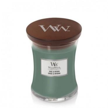 Średnia świeca Sage & Myrrh Woodwick