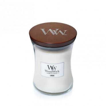 Średnia świeca Linen Woodwick