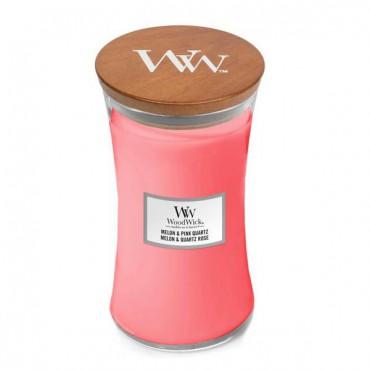Duża Świeca Melon & Pink Quartz WoodWick