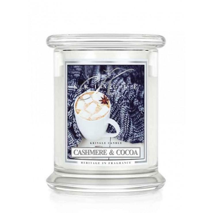 Średnia świeca Cashmere & Cocoa Kringle Candle