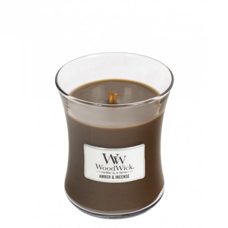 Średnia świeca Amber & Incense Woodwick