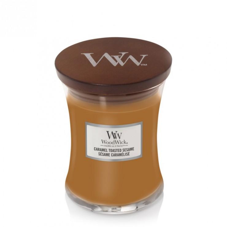 Średnia świeca Caramel Toasted Sesame Woodwick