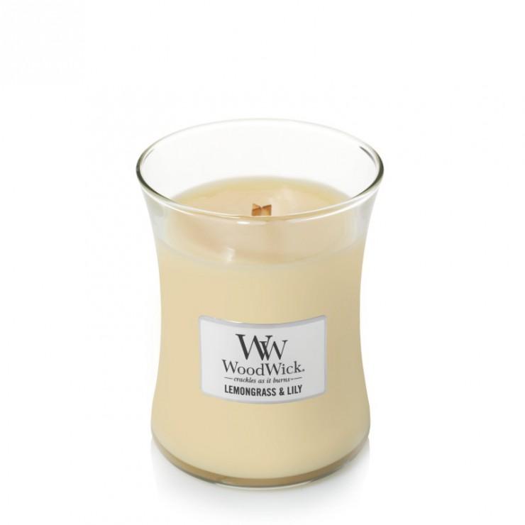Średnia świeca Lemongrass & Lily Woodwick
