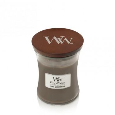 Średnia świeca Sand & Driftwood Woodwick