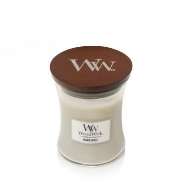 Średnia świeca Warm Wool Woodwick