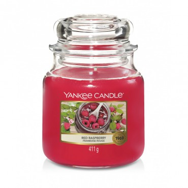 Średnia świeca Red Raspberry Yankee Candle