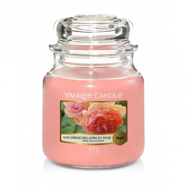 Średnia świeca Sun-Drenched Apricot Rose Yankee Candle