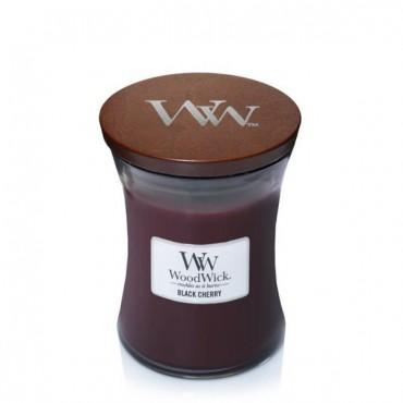 Średnia świeca Black Cherry Woodwick