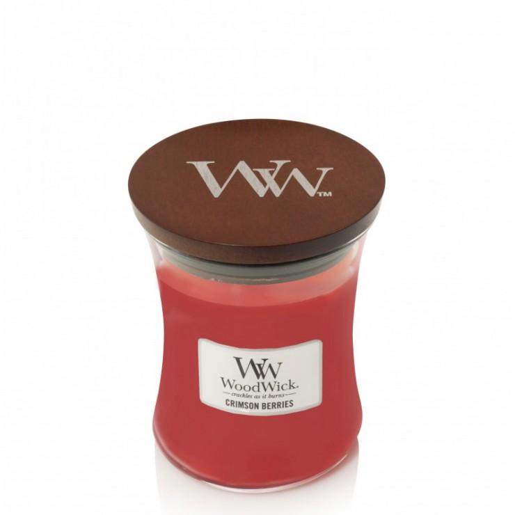 Średnia świeca Crimson Berries Woodwick