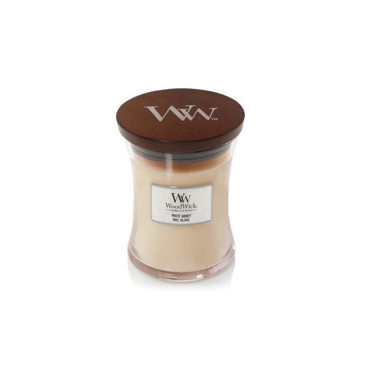 Średnia świeca White Honey Woodwick