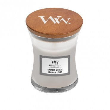 Mała świeca Lavender & Cedar Woodwick