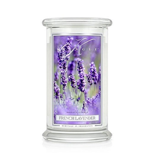 Duża świeca French Lavender Kringle Candle