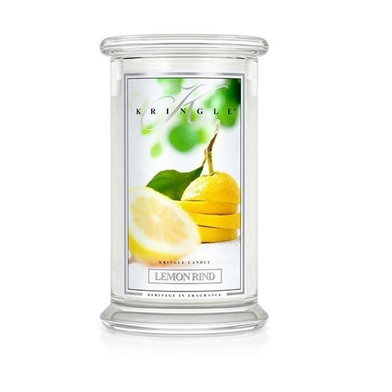 Duża świeca Lemon Rind Kringle Candle
