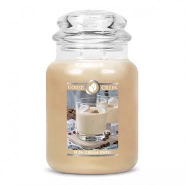 Duża świeca Irish Cream Swirl Goose Creek Candle