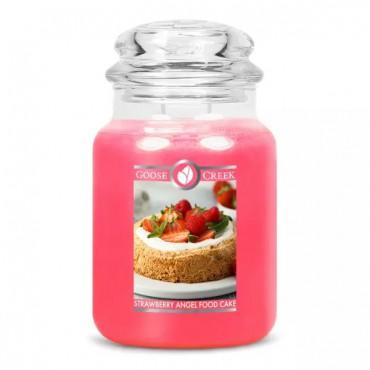 Duża świeca Strawberry Angel Food Cake Goose Creek Candle