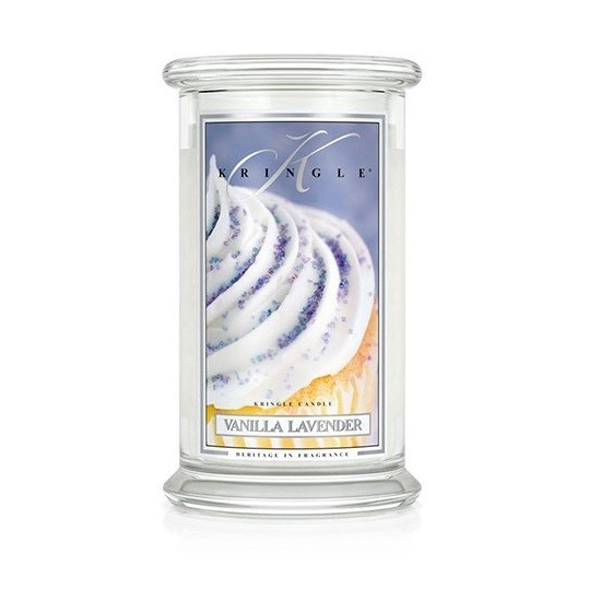 Duża świeca Vanilla Lavender Kringle Candle