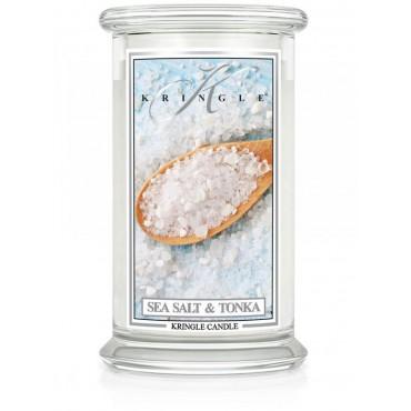 Duża świeca Sea Salt & Tonka Kringle Candle