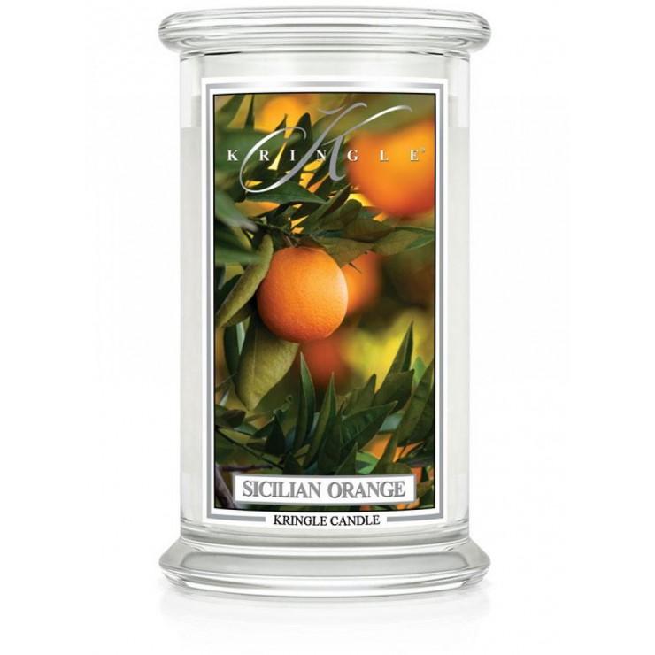 Duża świeca Sicilian Orange Kringle Candle