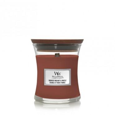 Mała świeca Smoked Walnut & Maple Woodwick
