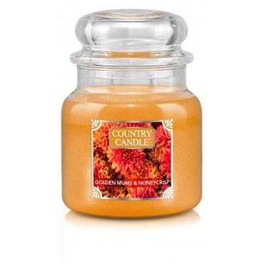 Średnia świeca Golden Mums & Honeycrisp Country Candle