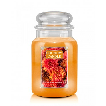 Duża świeca Golden Mums & Honeycrisp Country Candle