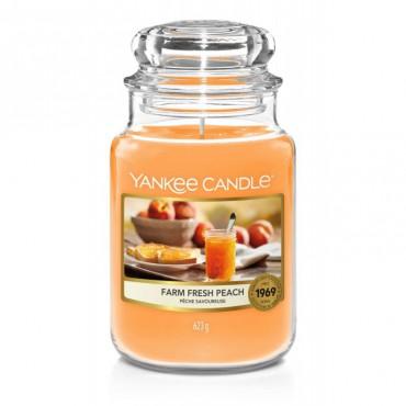 Duża świeca Farm Fresh Peach Yankee Candle